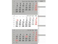 3-Maandkalender 2021 Manager compact-formaat notes