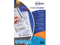 Tabbladen Avery Indexmaker A4 9-gaats 12-delig wit