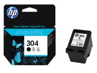 Inkcartridge HP N9K06AE 304 zwart