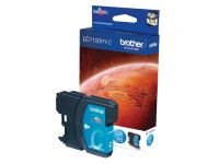 Inktcartridge Brother LC-1100HYC blauw HC