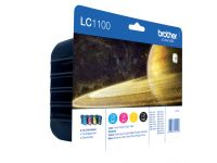 Inktcartridge Brother LC-1100VALBP zwart + 3 kleuren