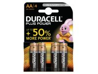 Batterij Duracell Plus Power 4x AA Alkaline
