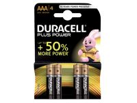 Batterij Duracell Plus Power 4x AAA Alkaline