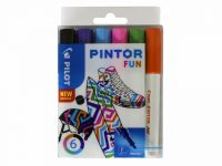 Verfstift Pilot Pintor fun 1.0mm ass etui à 6 stuks assorti