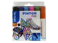 Verfstift Pilot Pintor fun 1.4mm ass etui à 6 stuks assorti