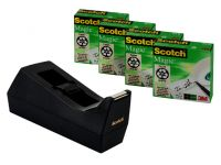 Plakbandhouder Scotch Met 4 Rollen Magic 810 19Mmx33M