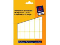 Etiket Avery Zweckform 3327 50x19mm wit 486stuks