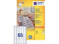 Etiket Avery Zweckform 3666 38x21.2mm wit 6500stuks