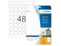 Etiket Herma 4387 Movables Rond 30Mm wit 1200St