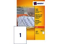 Etiket Avery Dp 001-100 210x297mm Kopieren wit 100 Stuks