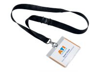 Badge Durable 8600 + Textielband 60x90mm Zwart