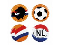 Buttons Nederland assorti set à 4 stuks